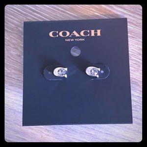 Coach brand new C stud earrings